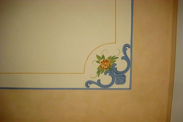 Dettaglio di decoro per soffitto in velatura - Decoration f�r lasierte Decke